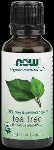 Organic Tea Tree Essential Oil (Certified Organic - 1 oz) NOW Foods